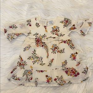 Baby Floral Bell Sleeve Dress